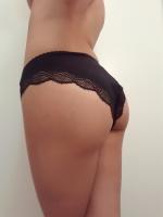 Black Lace Front Panty