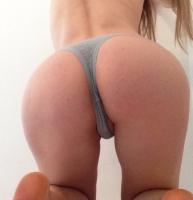 Grey Cotton Thong- worn 24 hours +