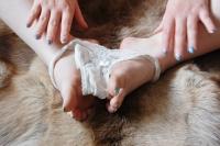 Stuffed lacy thong