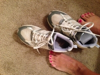 """Well Worn"" Stinky Sneakers + FREE pics!"