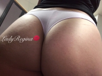 White Button - Light Pink Thong