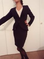 20 Pics Business Suit Strip Down
