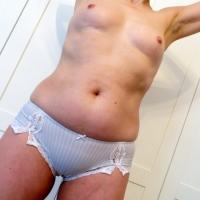 Baby Blue Lace Trim Panties