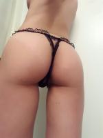 Black Cutout Thong+Pics