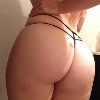 Black Double String Thong