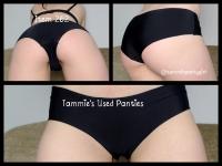 Black no vpl used worn panties