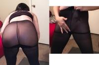 Black pantyhose with black panties set