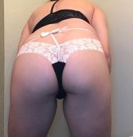 Black strappy thong panty