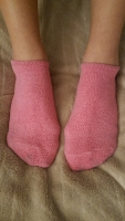 Fuzzy Pink Ankle Socks