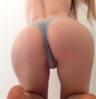 Grey Cotton Thong- worn 24 hours +