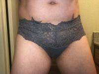Grey Lace Boy Shorts