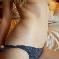 Grey Lace Camel Toe Panties