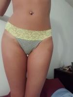 Grey Laced Thong