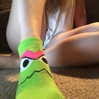 Grouchy Green Socks