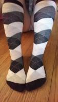 Kit's Argyle Knee Socks