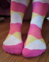 Kit's Argyle Knee Socks