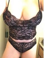 Lace panties and bra set
