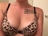 Leopard print bra