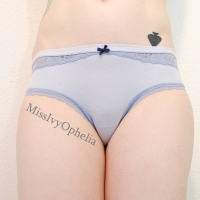 Innocent Blue Cheeky Undies with Lace