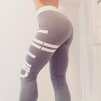 Light Grey and White Gym Leggings