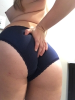 Navy blue cotton panties