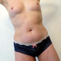 Navy Lace Hearts Panties