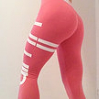 Pink and White Gym Leggings