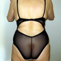 Pink Cupped Black Basque