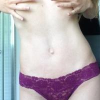 Purple Lace Thong