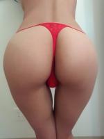 Red Cutout Thong