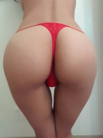 Red Cutout Thong