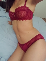 Red Lace Set + 5 Pics