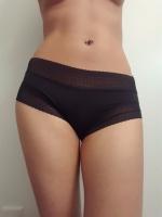 Satin Black Lace Trim Panty