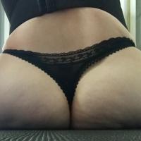 Silky Black Thong