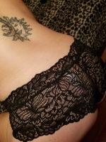 So Cheeky Black Lace Worn Panty