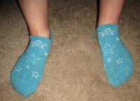 stinky old blue starry socks & pics!