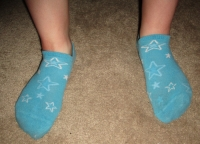 stinky old blue starry socks & pics!