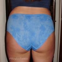 super soft blue tie-dye hiphugger & pics