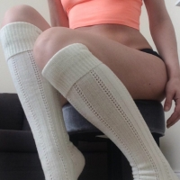 Thick knee high socks