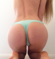 Turquoise Cotton Thong