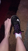 Smelly used and abused gym sneakers