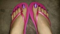Used Pink Flip Flop Sandals