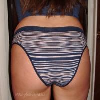 used ribbed seamless cheekini panty&pics