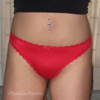 used super soft red thong & pics