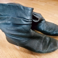 Very Well Used Grey Ankle Boots
