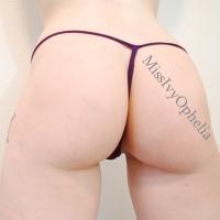 Purple Sheer Lace g-string panties