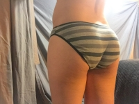 Well worn striped cotton panty
