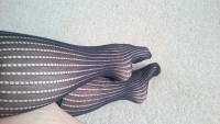 Worn pop socks