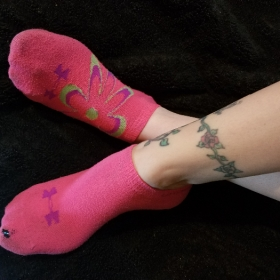 Mistress Kimberly's Worn Pink Socks