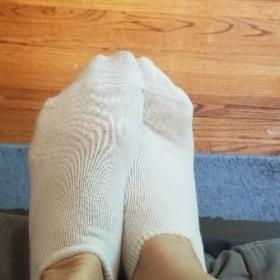 Sweaty gym socks